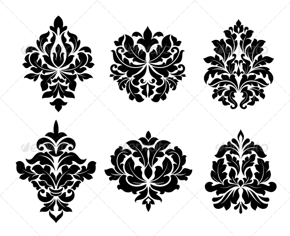 GraphicRiver Collection of Six Different Arabesque Designs 6663266