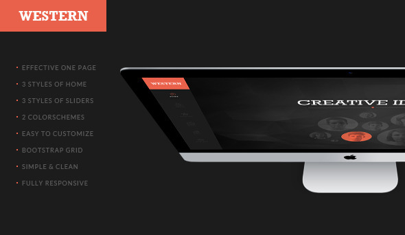 Western - Responsive One Page Template - Corporate PSD Templates