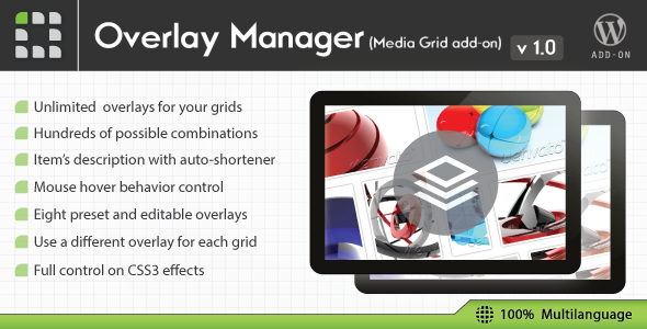 CodeCanyon Media Grid Overlay Manager add-on 6643138