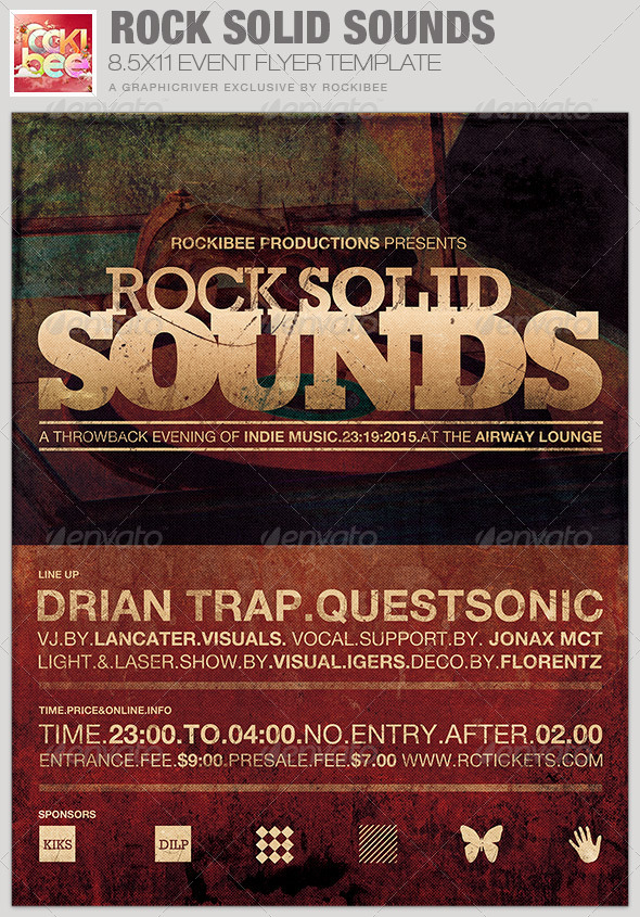 GraphicRiver Rock Solid Sounds Event Flyer Template 6663133