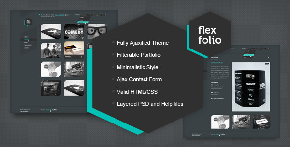 ThemeForest FlexFolio portfolio template 678107