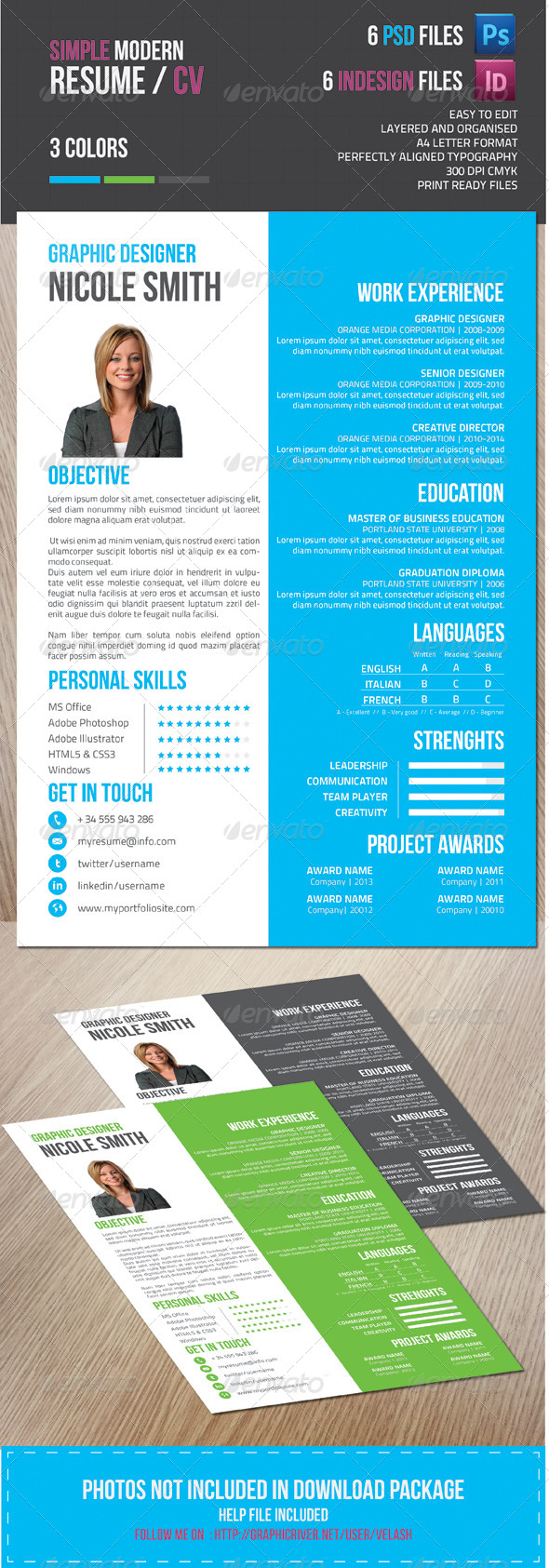 GraphicRiver Resume 6663556