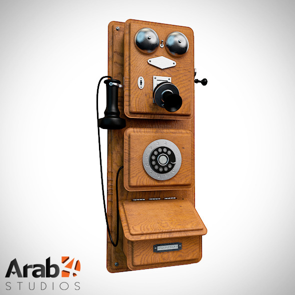 Americana Wall Phone 1882 - 3DOcean Item for Sale