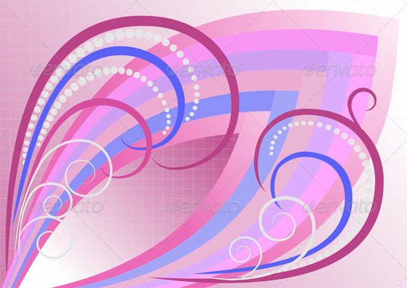 Abstract Curves for Pink Plaid Background. - Stock Photo - Images