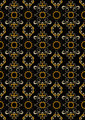 Black Pattern with Orange Flowers and Silver Spirals. - PhotoDune Item for Sale