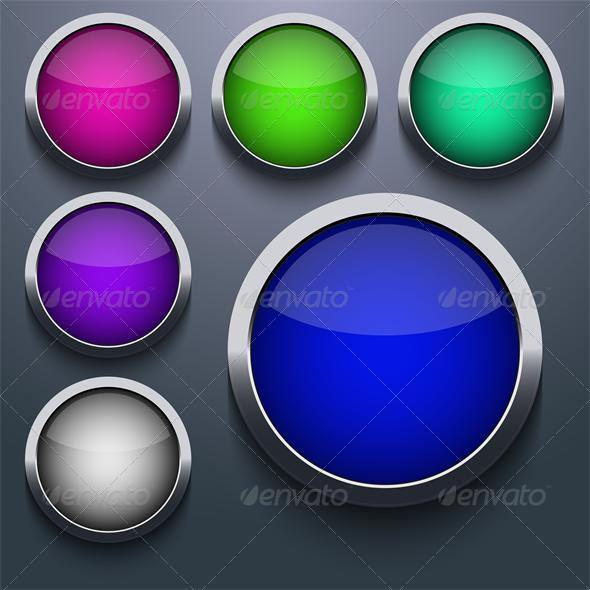 GraphicRiver Vector Web Button Set Design 6370687