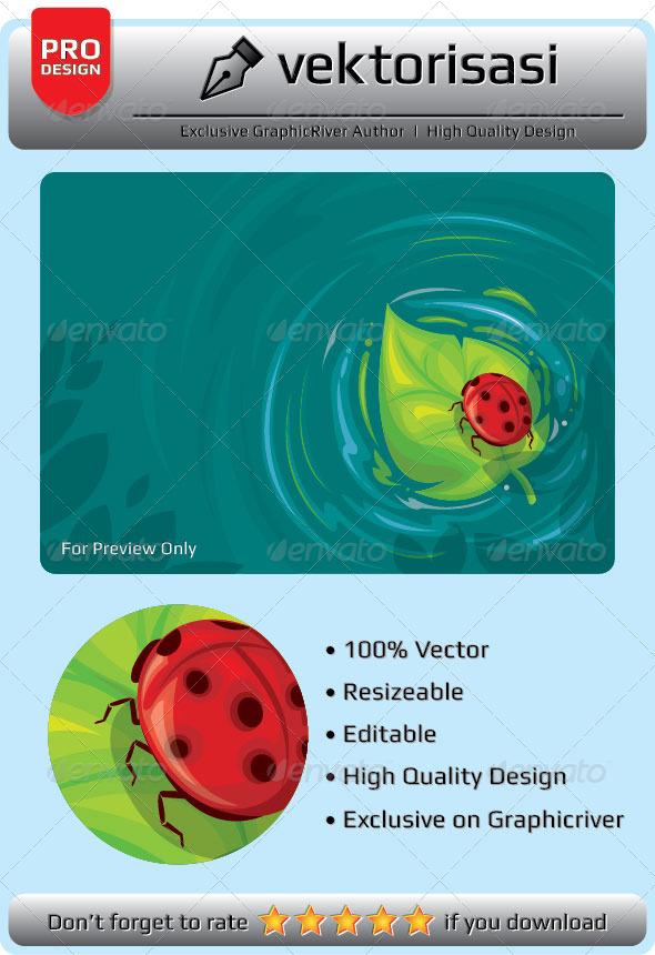 GraphicRiver Bug on Leaf 6664916