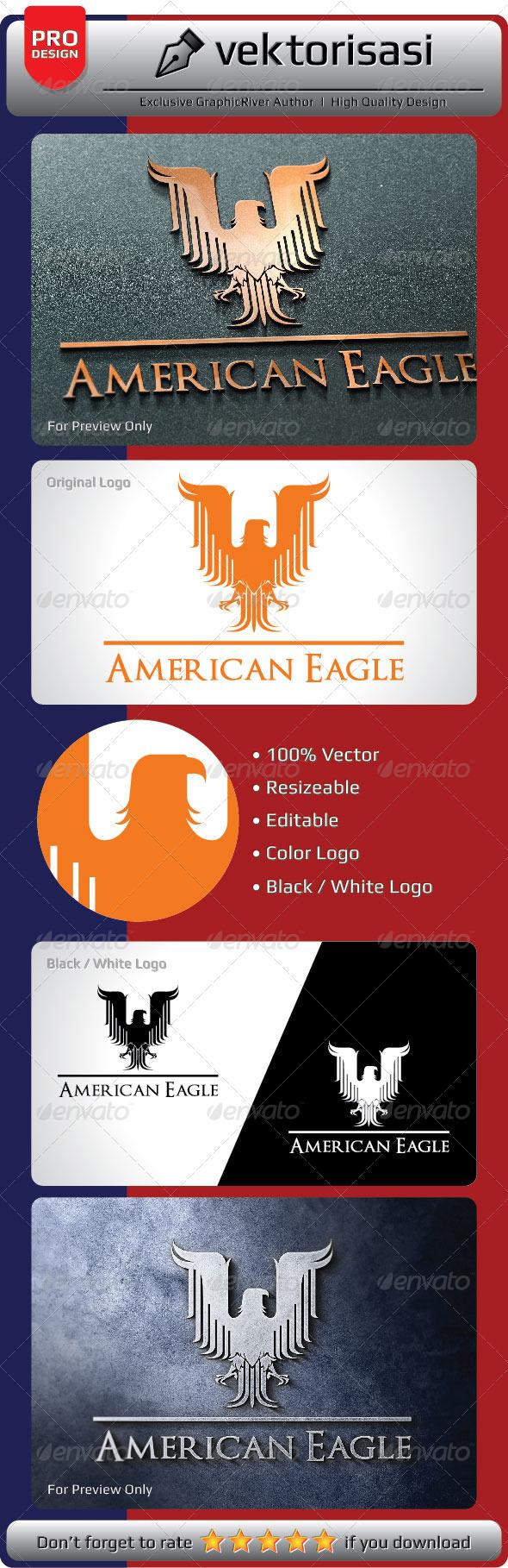 GraphicRiver American Eagle Logo 6665158