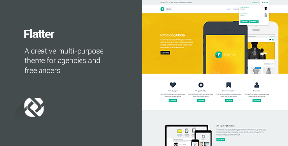ThemeForest Flatter Multi-Purpose Theme for Your Creativity 6651922