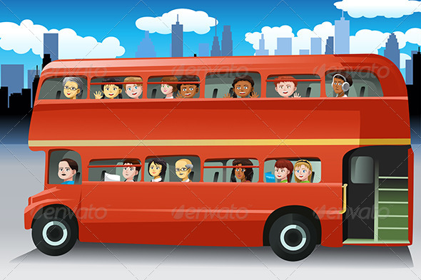 GraphicRiver People in a Bus 6665177
