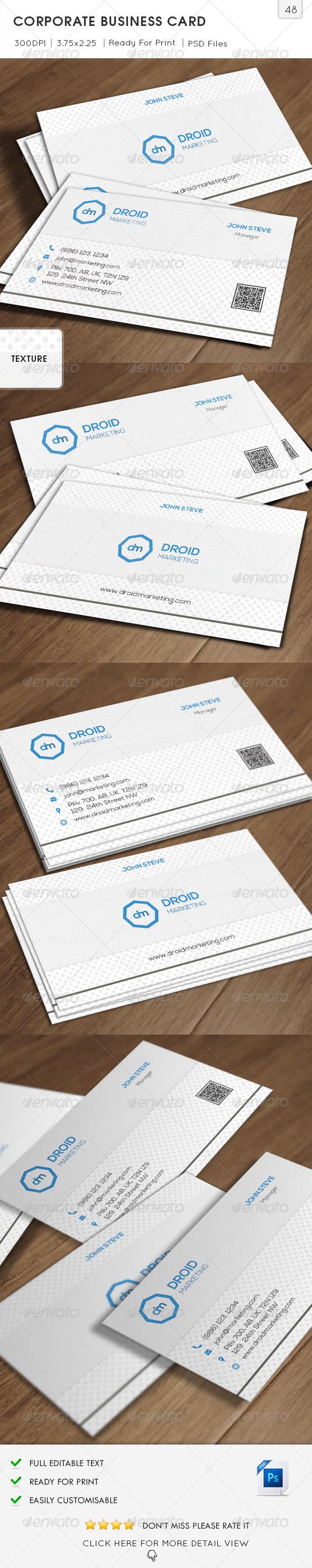 GraphicRiver Marketing Corporate Business Card v48 6665213