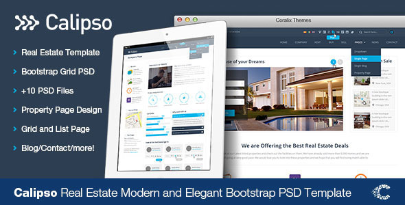 ThemeForest Calipso Real Estate Buy Rent Sell PSD 6620031