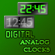 Digital/Analog Clocks - GraphicRiver Item for Sale