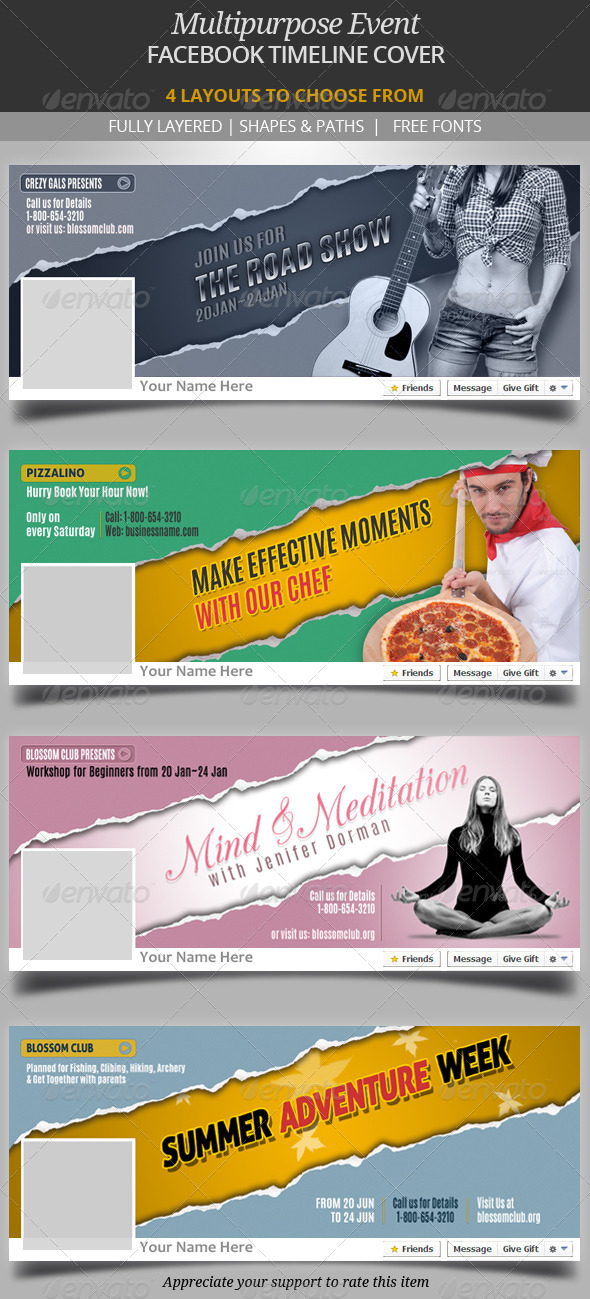 GraphicRiver Multipurpose Event Facebook Timeline Cover 6665538