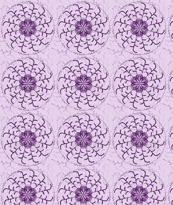 GraphicRiver Vector Abstract Flower Seamless Pattern 6665611