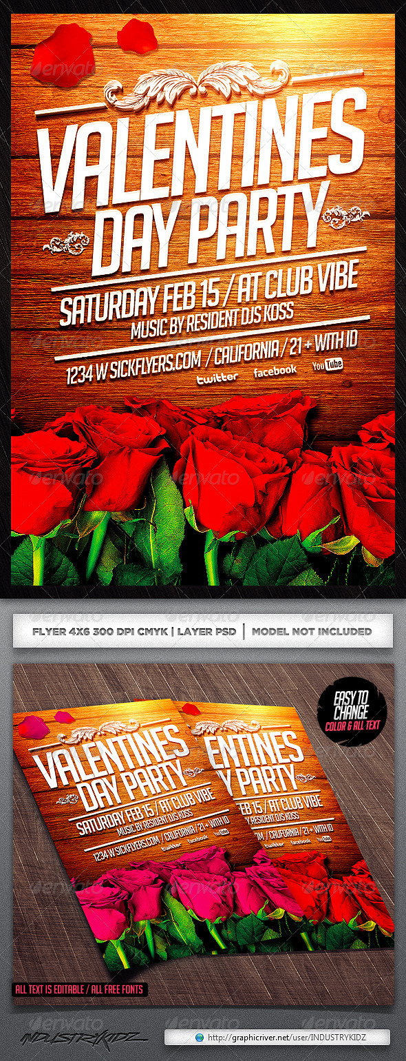 GraphicRiver Valentine s Day Flyer Template 6665812