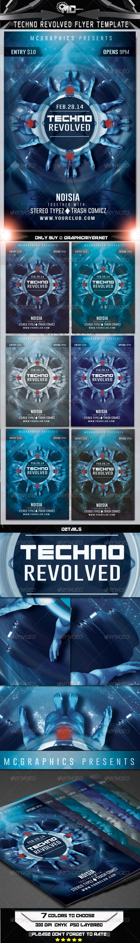 GraphicRiver Techno Revolved Flyer Template 6642984