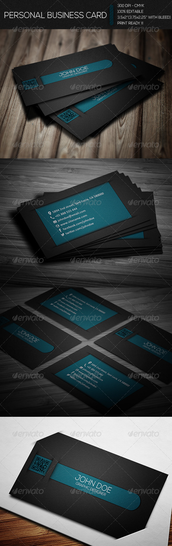 GraphicRiver Creative Personal Business Card 6665934