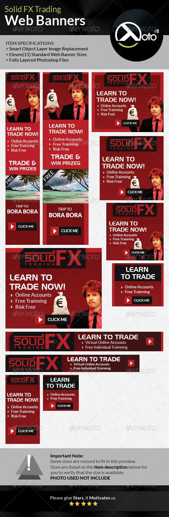 Solid FX  Trading Web Banners - Banners & Ads Web Elements