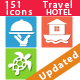 76 Travel and Hotel Icons - GraphicRiver Item for Sale