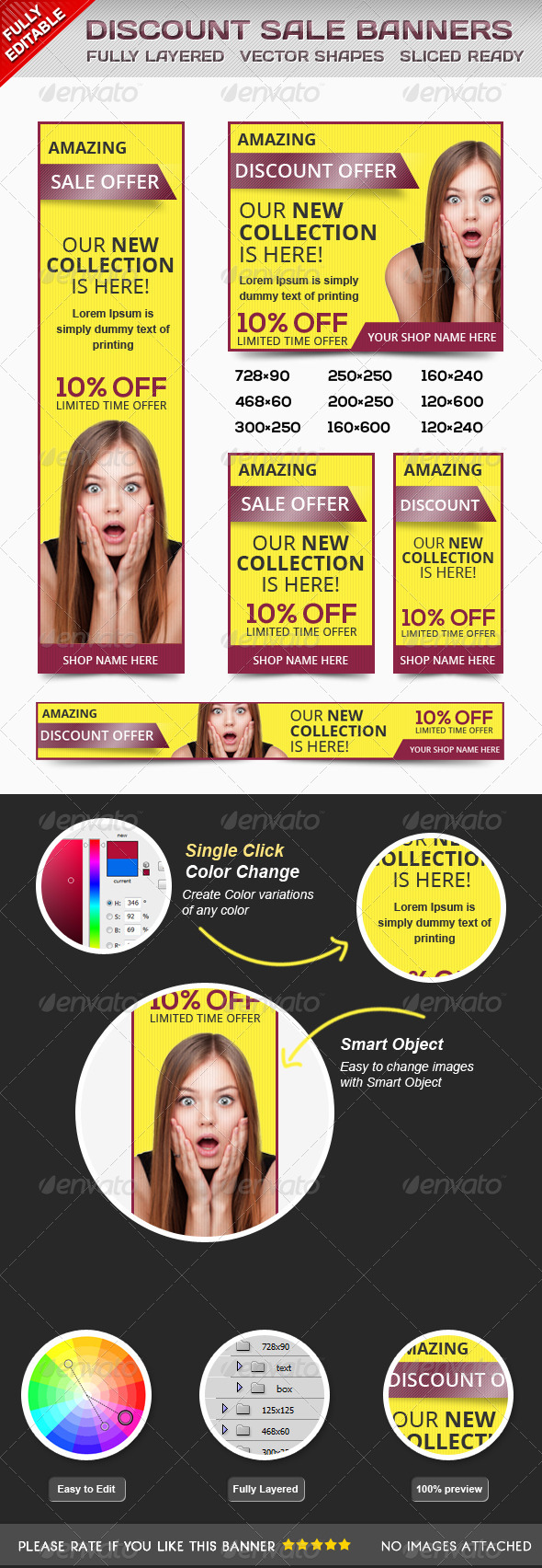 GraphicRiver Multipurpose Discount Banners 6666025