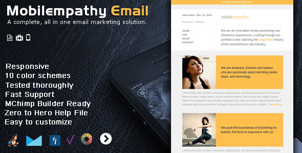 Mobilempathy - Responsive Email Template - Email Templates Marketing