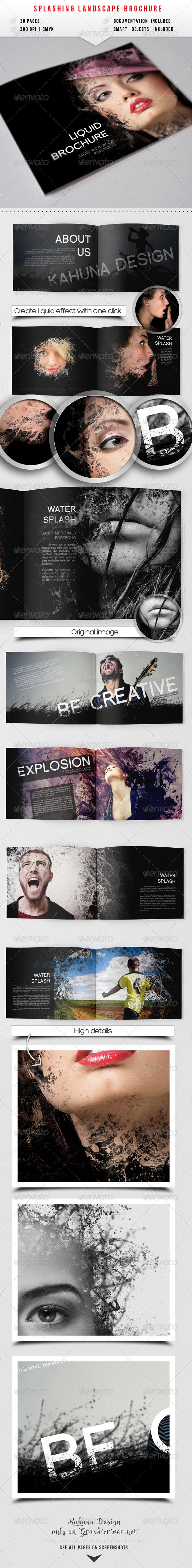 GraphicRiver Splashing Landscape Album 6666104