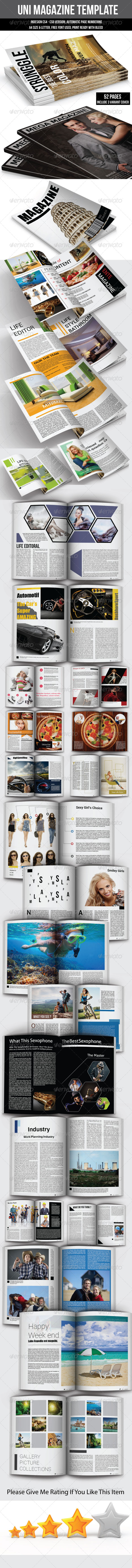 GraphicRiver UNI Magazine Template 6653052