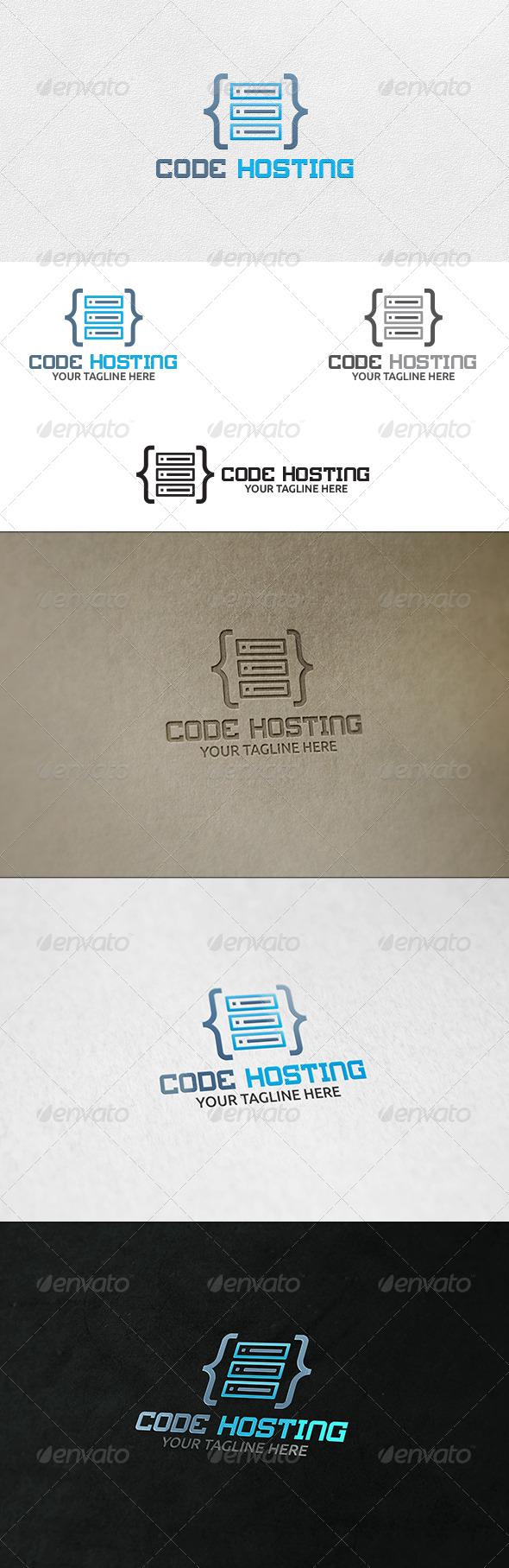 GraphicRiver Code Hosting Server Logo Template 6666495