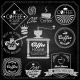 Coffee Set Elements Chalkboard - GraphicRiver Item for Sale