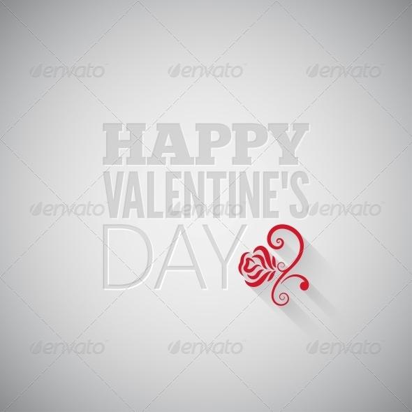 GraphicRiver Valentines Day Flower Background 6666556