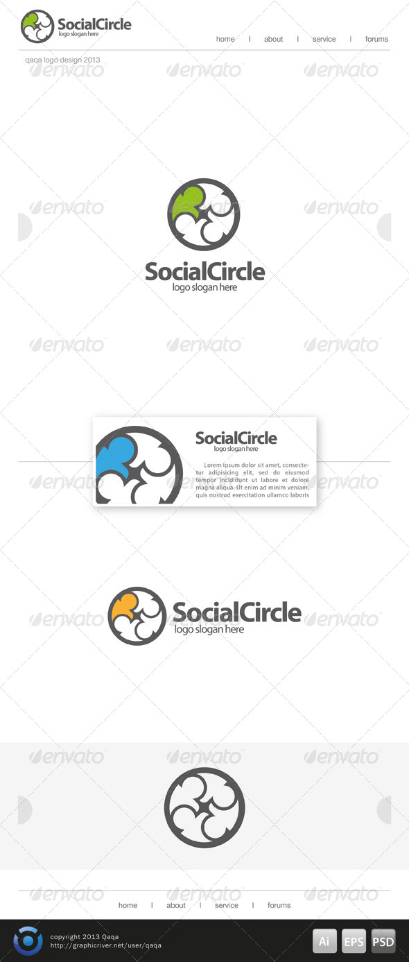GraphicRiver Social Circle Logo 6666611