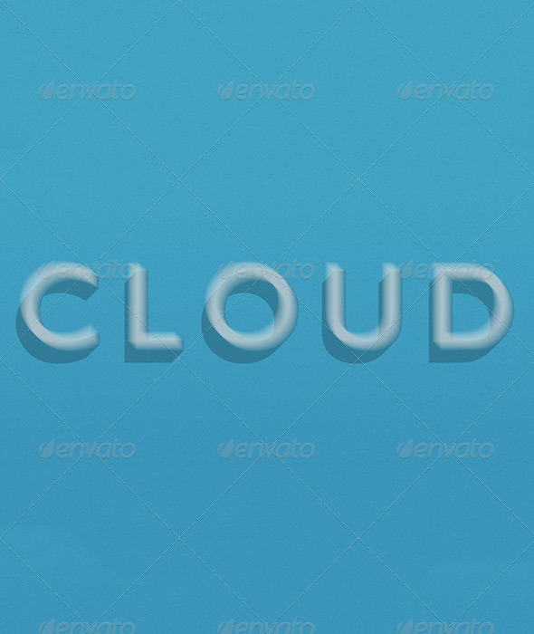 GraphicRiver Cloud Text 6666624