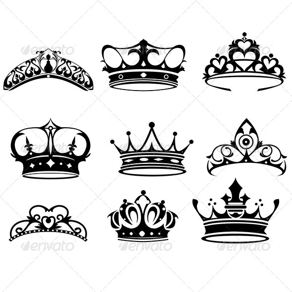 GraphicRiver Crown Icons 6666777