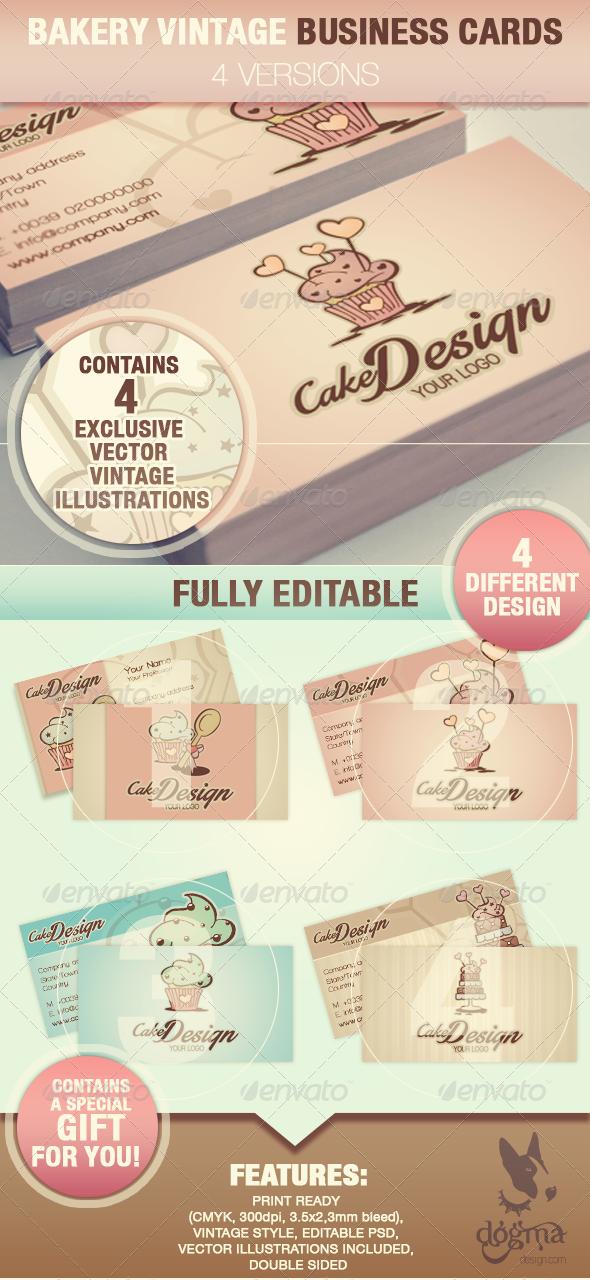 GraphicRiver Cake Design Business Cards 6661013