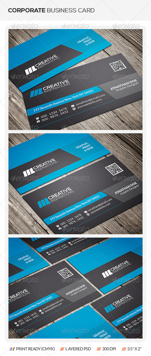 GraphicRiver Stylish Corporate Business Card 6667157