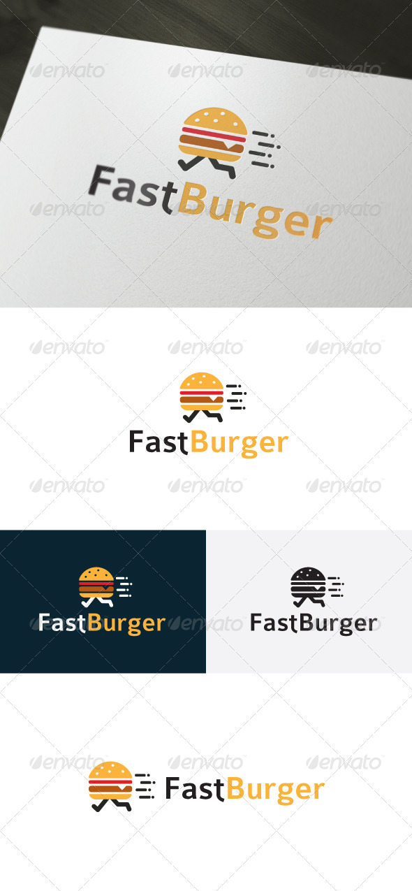 Fast Burger Logo — Fast Food