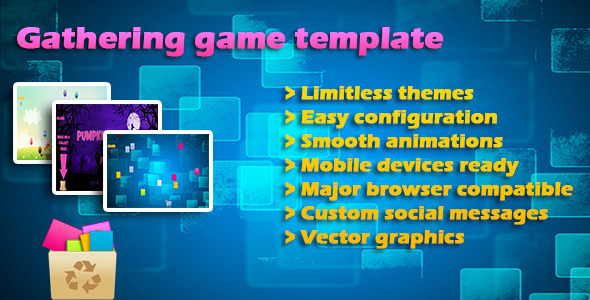 Gathering items game Template, Jquery & Tweenmax - CodeCanyon Item for Sale