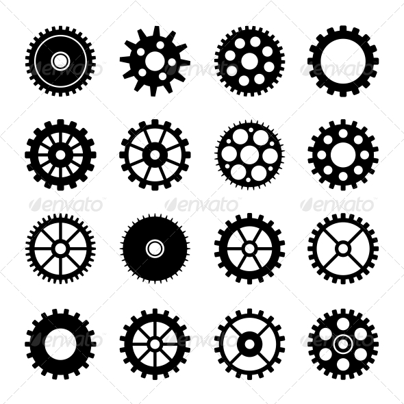 GraphicRiver Gear Wheel Icons Set 2 6667348