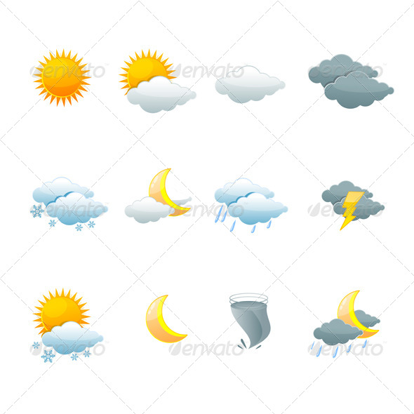 GraphicRiver Weather Icons 6667432