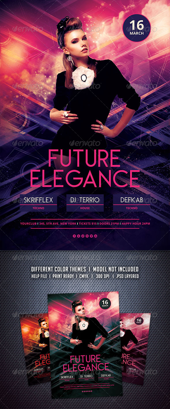 GraphicRiver Future Elegance Flyer 6667532
