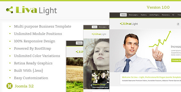 ThemeForest Livalight Theme Responsive Multi-Purpose Joomla 6667548
