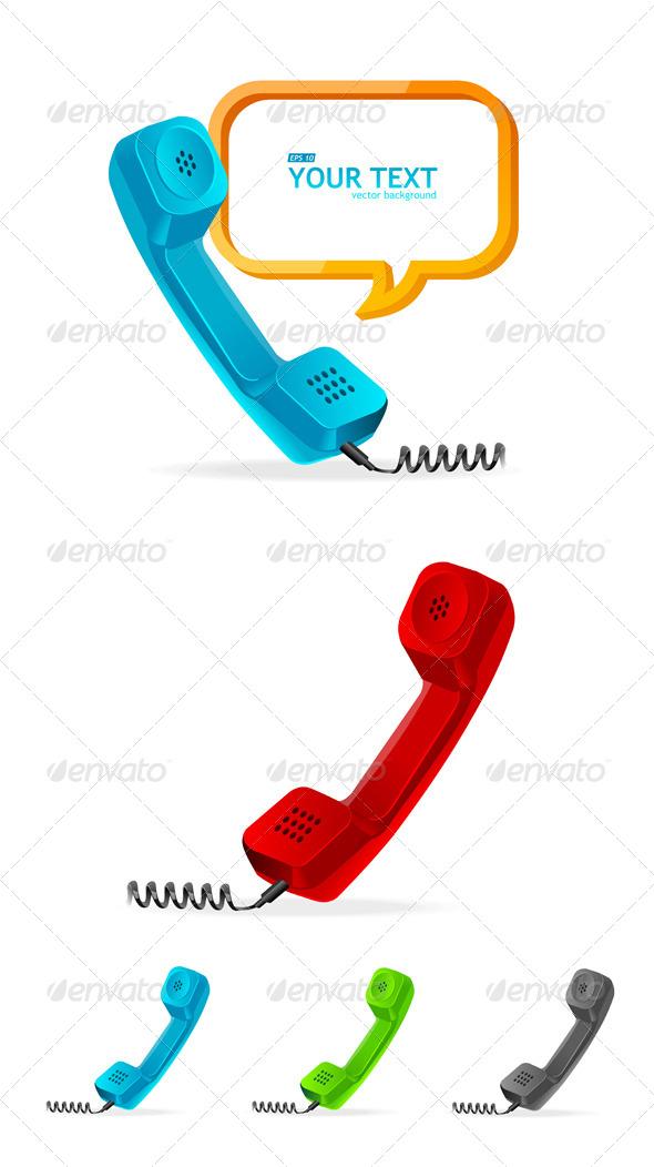 GraphicRiver Phone Receiver Set 6667624