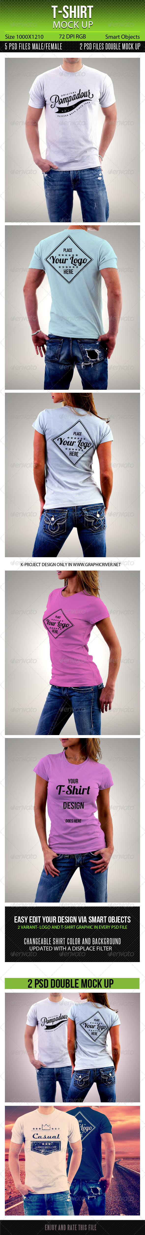 GraphicRiver T-Shirt Mock Up 6658933