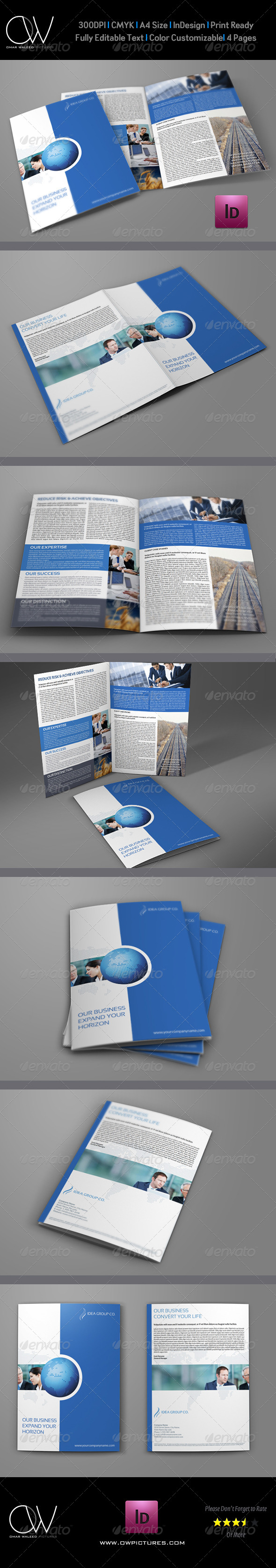 GraphicRiver Company Brochure Bi-Fold Template Vol.18 6667688