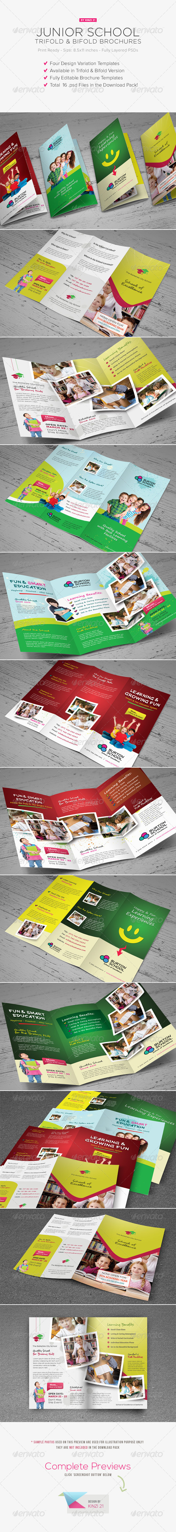 Junior School Trifold & Bifold Brochures - Corporate Brochures