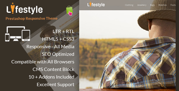 ThemeForest LifeStyle Prestashop Responsive Theme 6667813