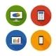 Responsive Design Flat Icons Set Vector