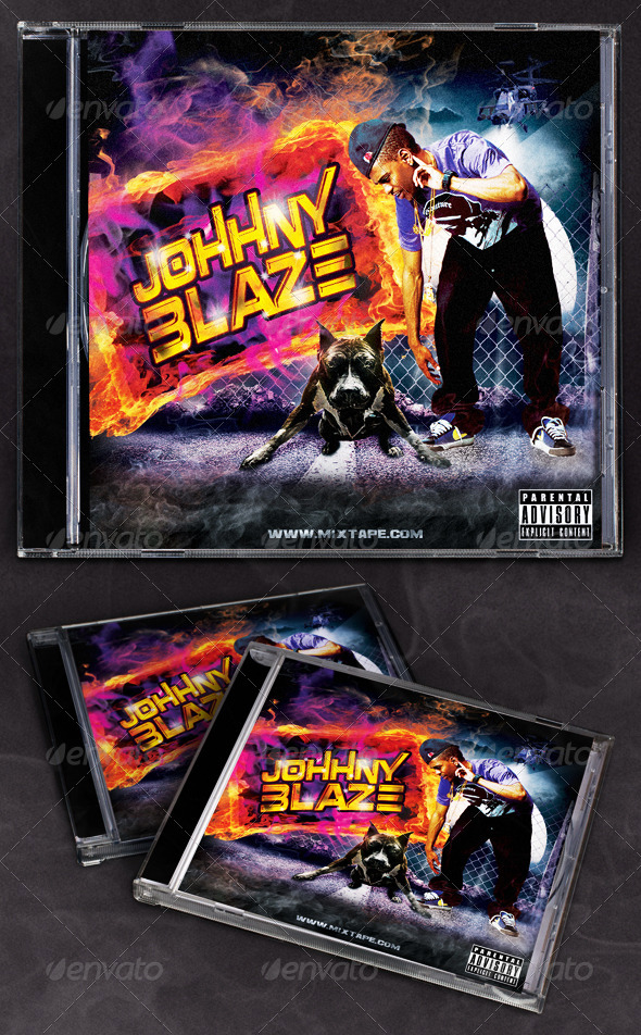 GraphicRiver Hip Hop Blaze Mixtape CD Cover 6584172