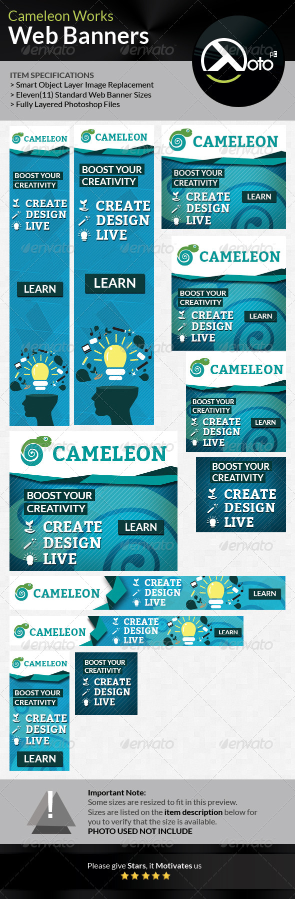 GraphicRiver Cameleon Works Web Banners 6668407